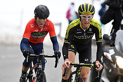 March 10, 2018 - Valdeblore La Colmiane, FRANCE - Britain's Simon Yates of Mitchelton - Scott (R) pictured in action during the seventh stage of the 76th edition of Paris-Nice cycling race, 175km from Nice to Valdeblore La Colmiane, France, Saturday 10 March 2018. The race starts on the 4th and ends on the 11th of March. BELGA PHOTO DAVID STOCKMAN (Credit Image: © David Stockman/Belga via ZUMA Press)