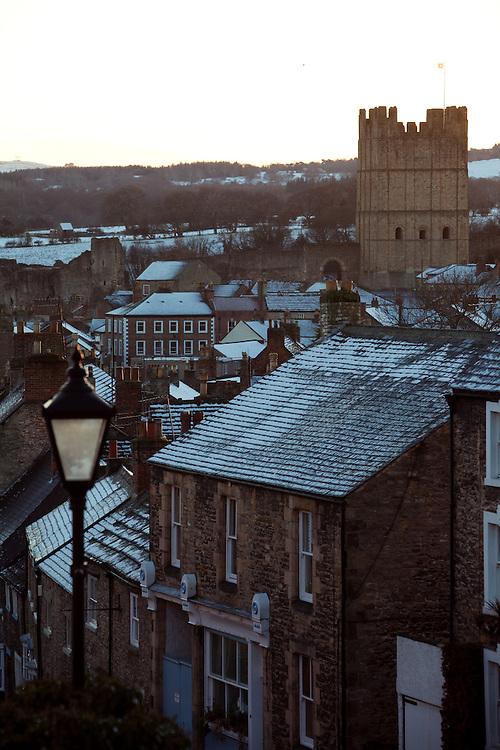 A view down Frenchgate Street, Richmond, Yorkshire.
