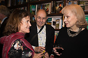 book launch for No Longer With Us by Naim Attallah. Daunt books. Marylebone. London. 28 Novermber 2018