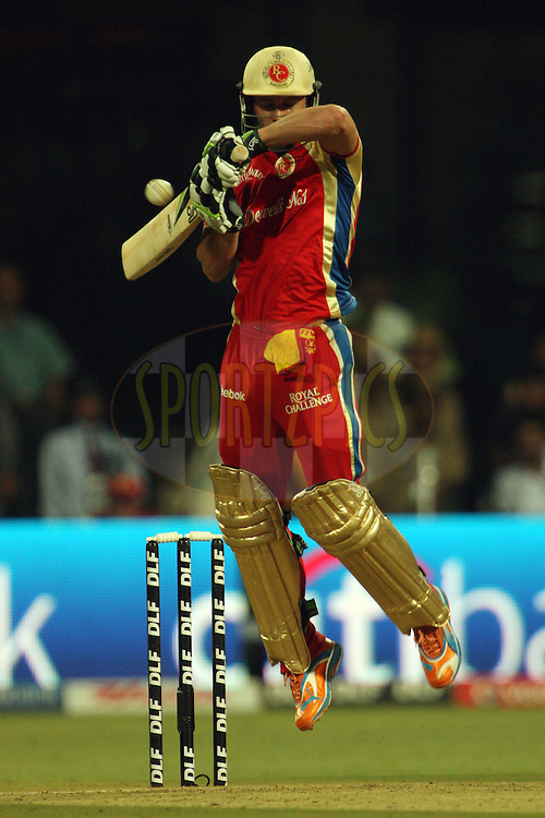 AB de Villiers during match 58 of the the Indian Premier League ( IPL ) Season 4 between the Royal Challengers Bangalore and the Kolkata Knight Riders held at the Chinnaswamy Stadium, Bangalore, Karnataka, India on the 14th May 2011..Photo by Jacques Rossouw/BCCI/SPORTZPICS.