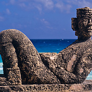 Chac Mool Statue. Cancun Quintana Roo, Mexico.