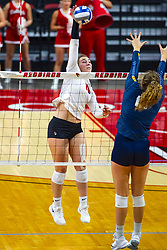 BLOOMINGTON, IL - September 15:  during a college Women's volleyball match between the ISU Redbirds and the Marquette Golden Eagles on September 15 2019 at Illinois State University in Normal, IL. (Photo by Alan Look)