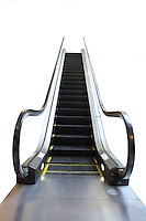 Escalator on white background