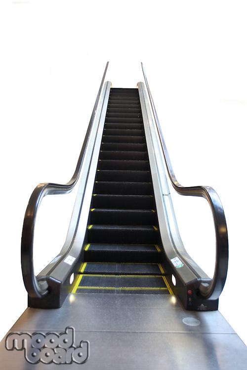 Escalator on white background