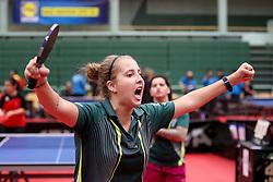 MARQUES PARINOS Jennyfer of Brazil celebrates at 14th Slovenia Open - Thermana Lasko 2017 Table Tennis Championships for the Disabled Factor 10, on May 9, 2017, in Dvorana Tri Lilije, Lasko, Slovenia. Photo by Matic Klansek Velej / Sportida