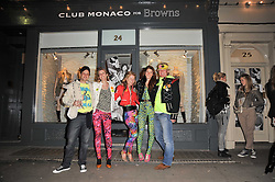 Left to right, CHRISTOPH HARGREAVES-ALLEN, PINKY LAING, REBECCA NEWMAN, REBECCA MANNERS and JAMES VERNON at the launch party for Club Monaco at Browns, 32 South Molton Street, London on 16th February 2011.