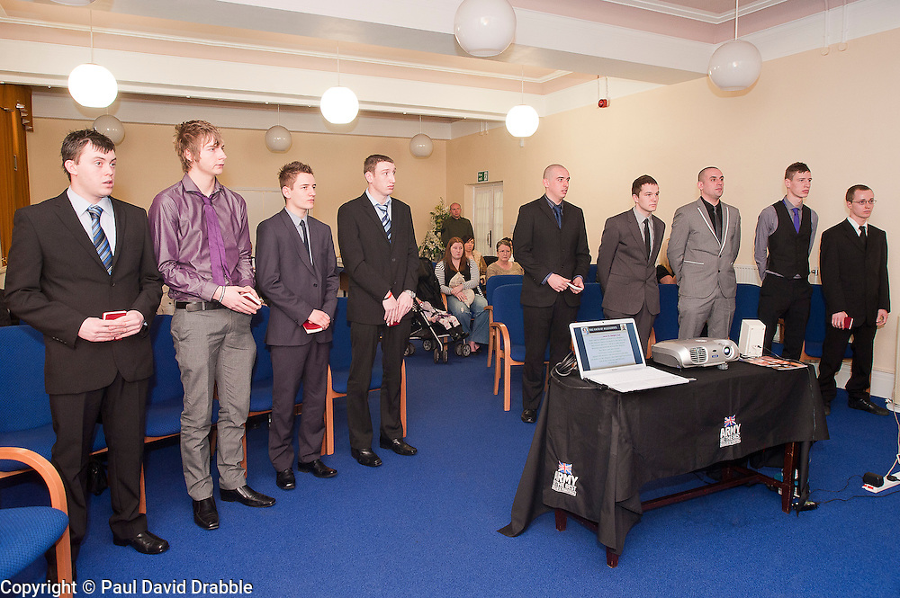 Oath of Allegiance Barnsley - Jamie Warren  Rikki Cardwell, Mathew Beaumont, David Dickinson, Kane Bradbury, Dale Kirk, Ashley Brown, Daniel Crossland<br /> http://www.pauldaviddrabble.co.uk<br /> 24 February 2012<br /> Image © Paul David Drabble