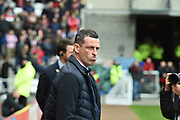Jack Ross during the EFL Sky Bet League 1 match between Sunderland and Portsmouth at the Stadium Of Light, Sunderland, England on 27 April 2019.