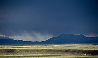 Afternoon showers moving across the Sangre de Cristo mountains near Westcliffe, Colorado