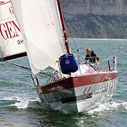 La course des Falaises 2004. Yann Elies sur Groupe Generali Assurances.