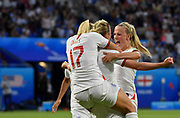 Beth Mead of England celebrates the goal with teammates during the FIFA Women's World Cup France 2019, semi-final football match between England and USA on July 2, 2019 at Stade de Lyon in Lyon, France - Photo Antoine Massinon / A2M Sport Consulting / ProSportsImages / DPPI