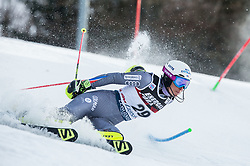 "Nastasia Noens (FRA) competes during 1st Run of FIS Alpine Ski World Cup 2017/18 Ladies' Slalom race named ""Snow Queen Trophy 2018"", on January 3, 2018 in Course Crveni Spust at Sljeme hill, Zagreb, Croatia. Photo by Vid Ponikvar / Sportida"