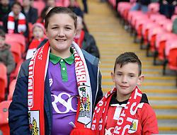 Bristol city fans inside wembley.  - Photo mandatory by-line: Alex James/JMP - Mobile: 07966 386802 - 22/03/2015 - SPORT - Football - London - Wembley Stadium - Bristol City v Walsall - Johnstone Paint Trophy Final