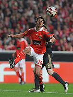 20100401: LISBON, PORTUGAL - SL Benfica vs Liverpool: Europa League 2009/2010 - Quarter-Finals - 1st leg. In picture: Pablo Aimar (Benfica). PHOTO: Alvaro Isidoro/CITYFILES