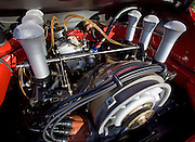 Auto Cinema from Automotive Car Photographer Randy Wells, Image of a 1972 Porsche 911 with a flat 6 cylinder air-cooled motor, slide valves, MFI, engine, high butterfly, in Monterey, California, America west coast, property released