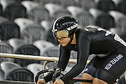 Steph McKenzie in the (WE) sprint at the Avanti BikeNZ Classic, Avantidrome, Cambridge, New Zealand, Thursday, September 18, 2014, Credit: Dianne Manson/BikeNZ