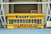 Colorful ticket office at the side of Taipei Stadium.
