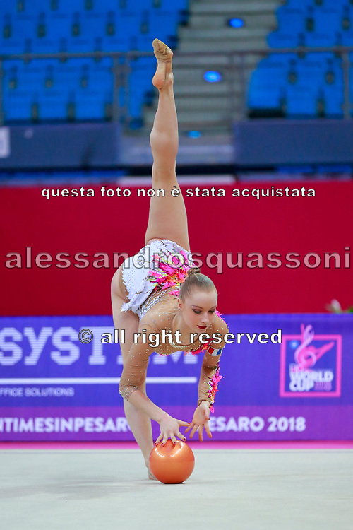 Jovenin Axelle during the qualification of the ball at the Pesaro World Cup 2018.<br />