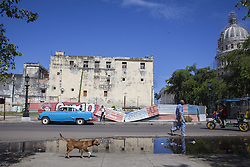 November 23, 2016 - Havana, Cuba - A street near the National Capitol Building in Havana, Cuba, on 23 November 2016. (Credit Image: © Alvaro Fuente/NurPhoto via ZUMA Press)