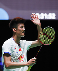 2017?3?8? .     ?????1????——??????????????.       3?8?????????????.       ????????????2017???????????????????????2?0??????Marc Zwiebler???????.       ????????.(SP) BRITAIN-BIRMINGHAM-BADMINTON-ALL ENGLAND OPEN-FIRST ROUND.(170308) -- BIRMINGHAM, Mar. 8, 2017  Chen Long of China acknowledges the crowd after the men's singles first round match with Marc Zwiebler of Germany at All England Open Badminton 2017 in Birmingham, Britain on Mar. 8, 2017. (Credit Image: © Han Yan/Xinhua via ZUMA Wire)