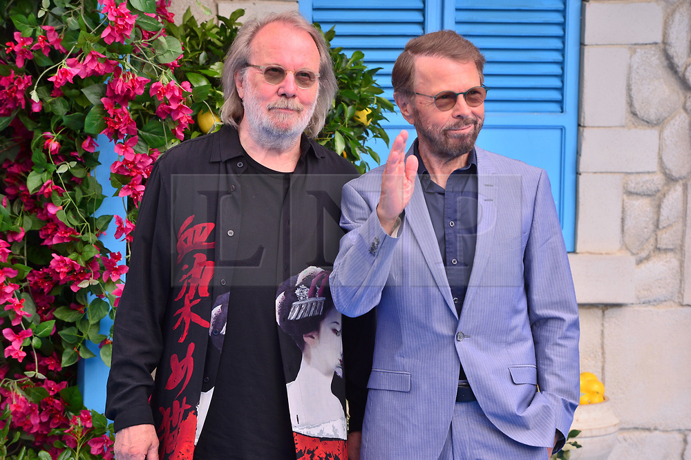 © Licensed to London News Pictures. 16/07/2018. London, UK. Bjorn Anderson and Benny Anderson of Abba attends the Mamma Mia! Here We Go Again World Film Premiere at Eventim Apollo Hammersmith. Photo credit: Ray Tang/LNP