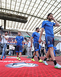 11.06.2015, Stadion Poljud, Split, CRO, UEFA Euro 2016 Qualifikation, Kroatien vs Italien, Gruppe H, Training Italien, im Bild das italienische Nationalteam beim Training // during training of Team Italy prior to the UEFA EURO 2016 qualifier group H match between Croatia and and Italy at the Stadion Poljud in Split, Croatia on 2015/06/11. EXPA Pictures © 2015, PhotoCredit: EXPA/ Pixsell/ Ivo Cagalj<br /> <br /> *****ATTENTION - for AUT, SLO, SUI, SWE, ITA, FRA only*****