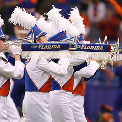 Jan 01, 2010; New Orleans, LA, USA;  The Florida Gators band performs prior to kickoff of the 2010 Sugar Bowl at the Louisiana Superdome.  Mandatory Credit: Derick E. Hingle-US PRESSWIRE.