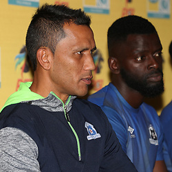 Fadlu Davids (Head Coach) of Maritzburg Utd during the MTN8 semi-final 2nd-leg Press Conference with the Head Coach and Selected players United,Harry Gwala Stadium in  Pietermaritzburg. 7th September -2017 (Photo by Steve Haag)