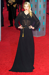 © Licensed to London News Pictures. 14/02/2016. London, UK. LILY DONALDSON arrives on the red carpet at the EE British Academy Film Awards 2016 Photo credit: Ray Tang/LNP