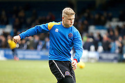Shrewsbury Town FC new signing, forward Stephen Humphreys (9) warms up before kick off during the EFL Sky Bet League 1 match between Gillingham and Shrewsbury Town at the MEMS Priestfield Stadium, Gillingham, England on 28 January 2017. Photo by Andy Walter.