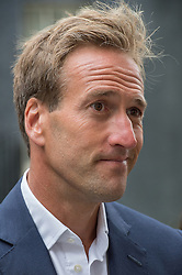 © London News Pictures. 22/05/15. London, UK. TV presenter and adventurer Ben Fogle is joined by exiles of the Chagos Islands to hand in a peititon at 10 Downing Street calling for the islanders to be allowed to resettle on the islands, Westminster, Central London. Photo credit: Laura Lean/LNP