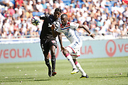 Ndombele Alvaro Tanguy of Lyon and Gnahore Eddy of Amiens during the French championship L1 football match between Olympique Lyonnais and Amiens on August 12th, 2018 at Groupama stadium in Decines Charpieu near Lyon, France - Photo Romain Biard / Isports / ProSportsImages / DPPI