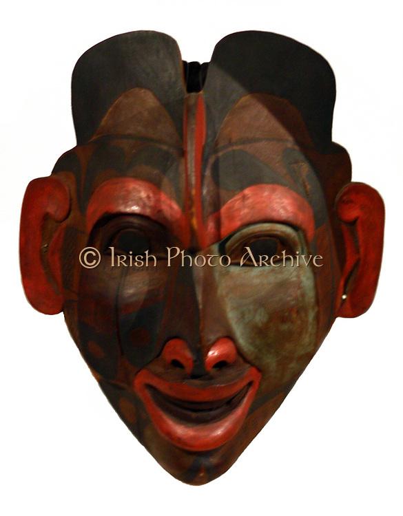 Human style face mask, British Columbia, Canada 19th Century
