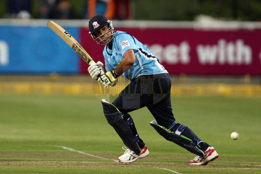 Azhar Mahmood during match 5 of the Karbonn Smart CLT20 South Africa between Kolkata Knight Riders and Auckland Aces held at Sahara Park Newlands, South Africa on the 15th October 2012. Photo by Jacques Rossouw/SPORTZPICS/CLT20
