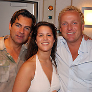 Ochtend radioshow Gordon bij Radio Noordzee, mengtafel, Eddy Keur en Kimberly Berk