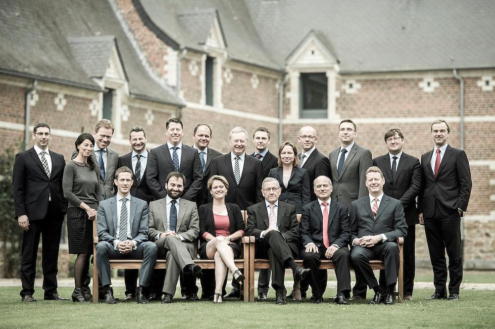 Jodoigne, Belgium 30 April 2014<br /> ESM group portrait. <br /> Photo: Ezequiel Scagnetti