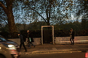 Security entrance St. James's Park, London, 8 November 2017