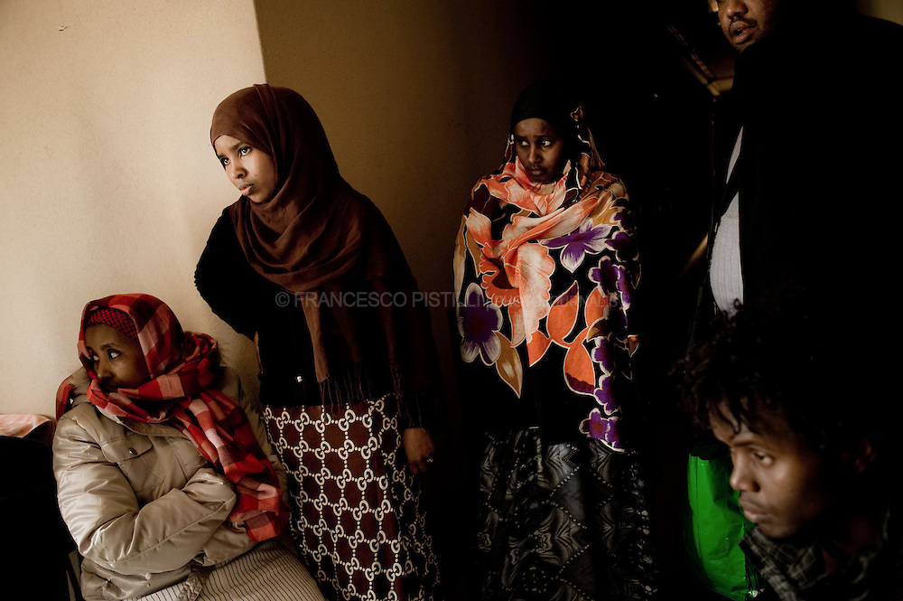 Since October 2009, around 40 Somali refugees have been squatting an abandoned hotel (Ferrhotel) near Bari's central train station, living without electricity and gas. They decided to squat the hotel because of the lack of adequate structures to welcome refugees in Bari.