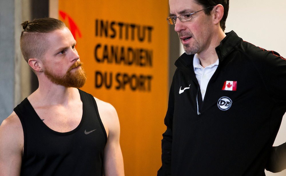 Geoffrey Harris trains and go through biomechanical and performance analytics at the PISE Pacific Institute for Sport Excellence on December 4th, 2015 in Victoria, British Columbia Canada.