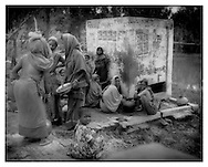 Bengali women gather at water well, Sundarbans.