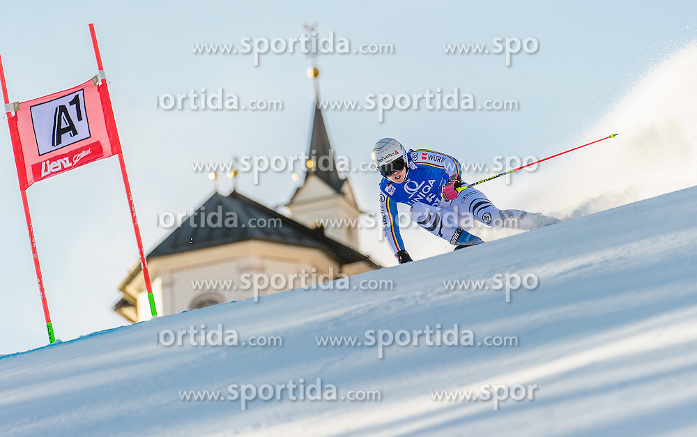 28.12.2015, Hochstein, Lienz, AUT, FIS Ski Weltcup, Lienz, Riesenslalom, Damen, 1. Durchgang, im Bild Viktoria Rebensburg (GER) // Viktoria Rebensburg of Germany during 1st run of ladies Giant Slalom of the Lienz FIS Ski Alpine World Cup at the Hochstein in Lienz, Austria on 2015/12/28. EXPA Pictures © 2015, PhotoCredit: EXPA/ Michael Gruber
