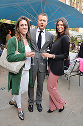 PICTURE SHOWS:-HERMIONE RUSSELL, MILES FROST and SUSANNA GAY.<br /> Tuesday 14th April 2015 saw a host of London influencers and VIP faces gather together to celebrate the launch of The Ivy Chelsea Garden. Live entertainment was provided by jazz-trio The Blind Tigers, whilst guests enjoyed Moët & Chandon Champagne, alongside a series of delicious canapés created by the restaurant's Executive Chef, Sean Burbidge.<br /> The evening showcased The Ivy Chelsea Garden to two hundred VIPs and Chelsea<br /> residents, inviting guests to preview the restaurant and gardens which marry<br /> approachable sophistication and familiar luxury with an underlying feeling of glamour and theatre. The Ivy Chelsea Garden's interiors have been designed by Martin Brudnizki Design Studio, and cleverly combine vintage with luxury, resulting in a space that is both alluring and down-to-earth.