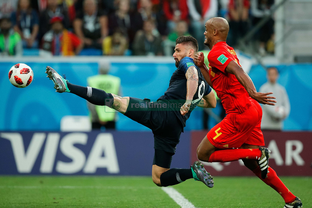 July 10, 2018 - SãO Petersburgo, Rússia - SÃO PETERSBURGO, MO - 10.07.2018: FRANÇA X BÉLGICA - Olivier Giroud of France tries to dominate the ball during a match between France and Belgium valid for the semi final of the 2018 World Cup held at the Krestovsky Stadium in St Petersburg, Russia. (Credit Image: © Marcelo Machado De Melo/Fotoarena via ZUMA Press)