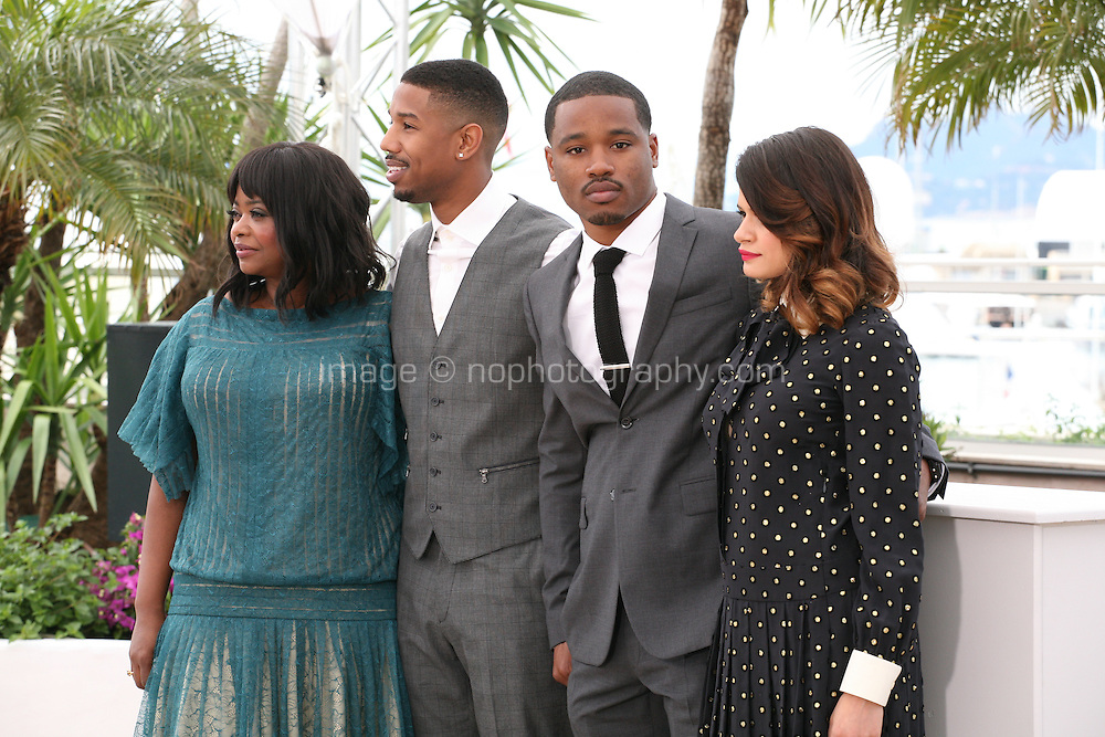 Octavia Spencer, Michael B. Jordan, Ryan Coogler and Melonie Diaz at the Fruitvale Station film photocall at the Cannes Film Festival 16th May 2013