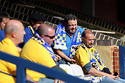 AFC Wimbledon fans during the EFL Sky Bet League 1 match between AFC Wimbledon and Rochdale at the Cherry Red Records Stadium, Kingston, England on 30 September 2017. Photo by Matthew Redman.