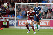 Northampton Town midfielder Matt Taylor (31) looks to release the ball during the EFL Sky Bet League 1 match between Northampton Town and Southend United at Sixfields Stadium, Northampton, England on 24 September 2016. Photo by Dennis Goodwin.
