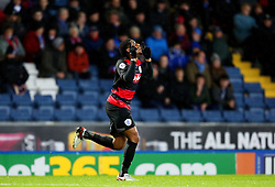 Leroy Fer of Queens Park Rangers celebrates after scoring his goal to make it 1-0  - Mandatory byline: Matt McNulty/JMP - 12/01/2016 - FOOTBALL - Ewood Park - Blackburn, England - Blackburn Rovers v QPR - SkyBet Championship