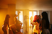 """On the set of DJ Khaled's """"No New Friends"""" video with Lil Wayne, Rick Ross, and Drake directed by Collin Tilley at Chateau Artisan outside of Miami, Florida, May 15, 2013."""