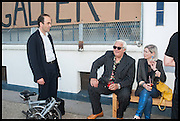 JUAN CRUZ; ELIZABETH PRICE; BRIAN CATLING, Matt's Gallery 35th birthday fundraising supper.  42-44 Copperfield Road, London E3 4RR. 12 June 2014.