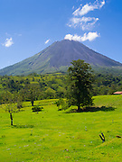 Clear day view of the Arenal Volcano, near La Fortuna, Costa Rica.